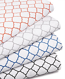 Charter Club Damask Designs Printed Geo Sheet Sets, 500 Thread Count, Created for Macy's