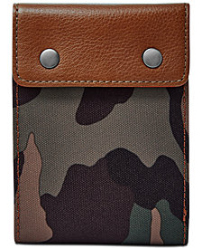 Fossil Men's Ethan Camo-Print Snap Bifold Wallet