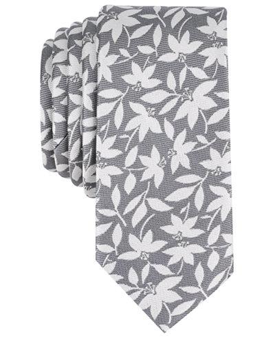 Bar III Men's Bossen Floral Skinny Tie, Created for Macy's