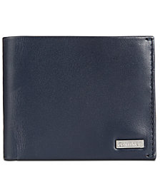 Calvin Klein Men's Smooth Shine Leather Bifold ID Wallet