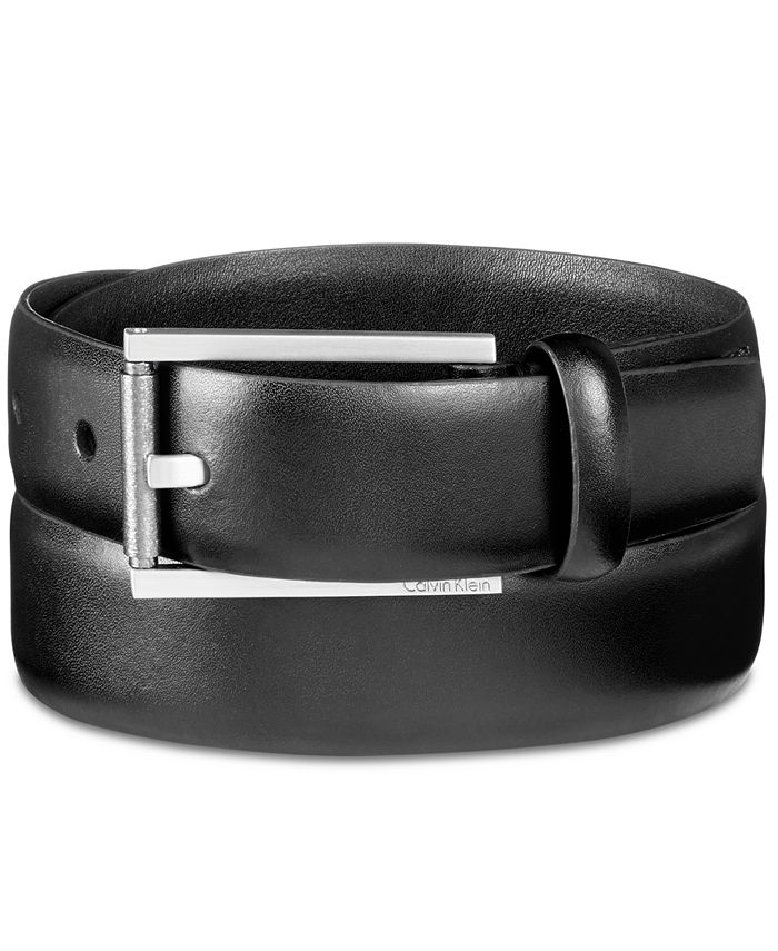 Calvin Klein - Men's Roller-Buckle Leather Belt