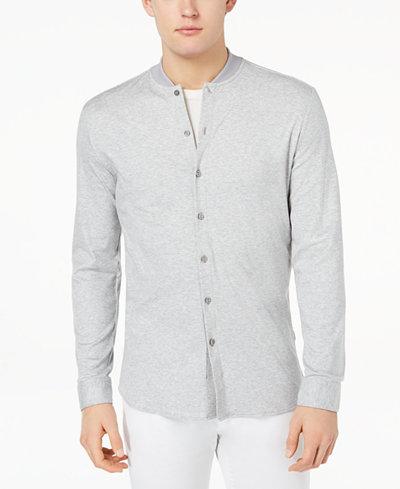 Calvin Klein Men's Baseball Collared Shirt
