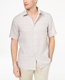 Tasso Elba Men's Matisse Stripe Linen Shirt, Created for Macy's