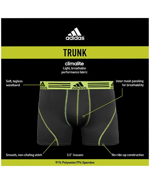 8ab895c147b0 adidas Men s 2-Pk. Sport Performance ClimaLite® Trunks   Reviews ...