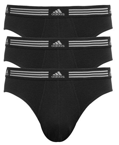 adidas Men's 3-Pk. Athletic Stretch Briefs