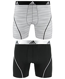 adidas Men's 2-Pk. Sport Performance ClimaLite® Graphic Boxer Briefs