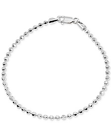 Beaded Chain Bracelet in Sterling Silver, Created for Macy's