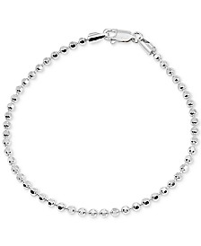 Giani Bernini Beaded Chain Bracelet in Sterling Silver, Created for Macy's