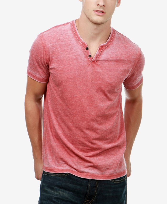 Lucky Brand - Men's Heathered Henley