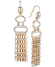 Ivanka Trump Gold-Tone Fringe Chandelier Earrings