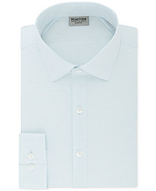 Kenneth Cole Reaction Men's Techni-Cole Slim-Fit Three-Way Stretch Performance Check Dress Shirt
