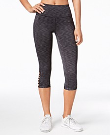 Space-Dyed Cropped Cutout Leggings, Created for Macy's