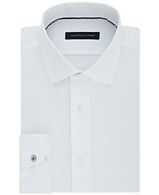 Men's Slim-Fit Non-Iron Performance Stretch Check Dress Shirt