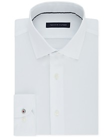 Tommy Hilfiger Men's Slim-Fit Non-Iron Performance Stretch Check Dress Shirt