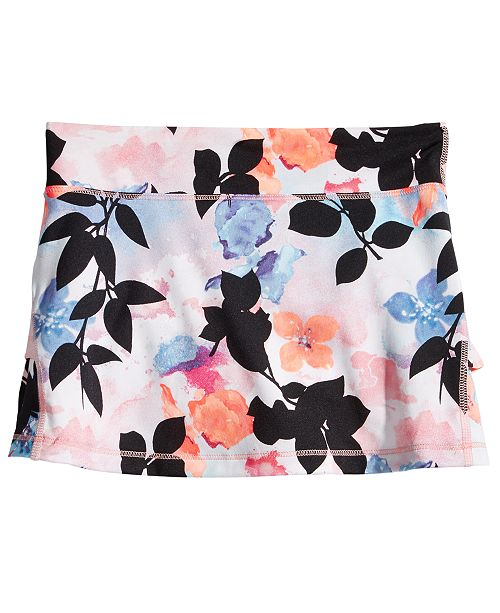 Ideology Tropical Floral-Print Skort, Toddler Girls, Created for Macy's