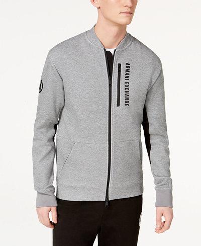 Armani Exchange Men's Zip-Up Sweatshirt