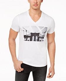A|X Armani Exchange Men's Graphic-Print V-Neck T-Shirt