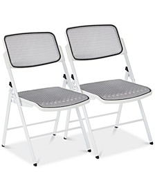 ProGrid® Mesh Seat and Back Folding Chair (Set Of 2)