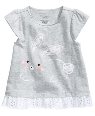 Graphic-Print Cotton T-Shirt, Baby Girls, Created for Macy's