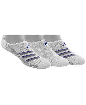 Men's Superlite No Show Socks, 3 Pack by Adidas