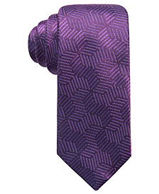 Alfani Men's Geometric Silk Slim Tie, Created for Macy's