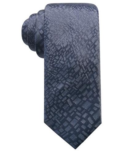 Alfani Men's Abstract Panel Silk Slim Tie, Created for Macy's