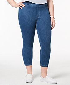 HUE® Women's  Plus Size Original Denim Capri Leggings