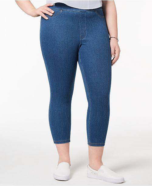 8c5049973f9 Hue Women s Plus Size Original Denim Capri Leggings   Reviews ...