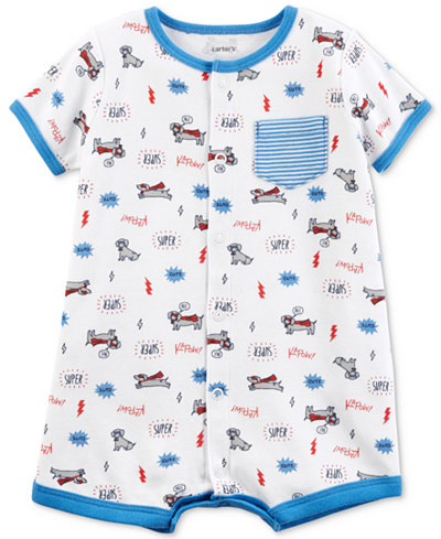 Carter's Graphic-Print Cotton Romper, Baby Boys