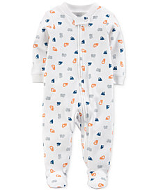 Carter's Little Planet Organics  Printed Cotton Coverall, Baby Boys