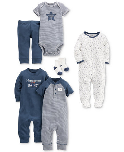 Carter's 9-Pc. Cotton Clothing & Accessories Set, Baby Boys