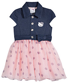 Hello Kitty Denim & Tutu Dress, Baby Girls