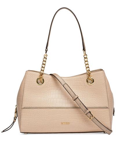 Calvin Klein Marie Leather Small Satchel