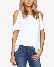 Sanctuary Lou-Lou Cotton Cold-Shoulder T-Shirt