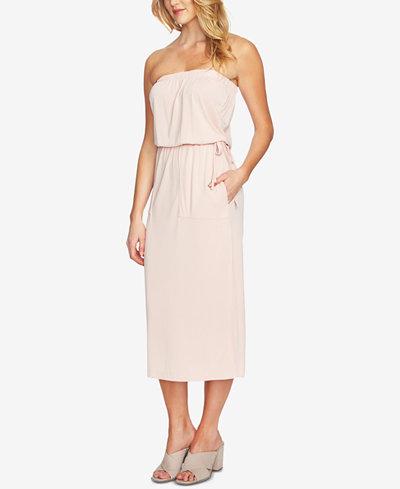 1.STATE Strapless Drawstring Dress