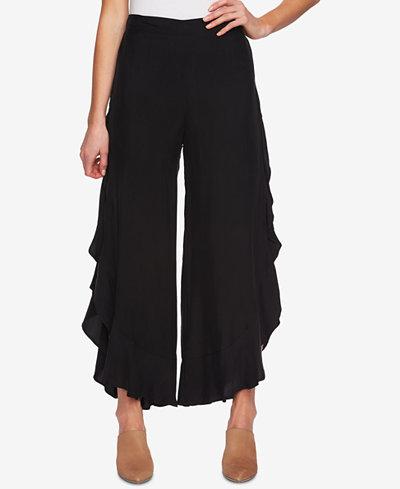 1.STATE Ruffled Wide-Leg Pants