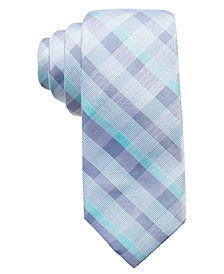 Ryan Seacrest Distinction™ Men's Messina Plaid Silk Slim Tie, Created for Macy's