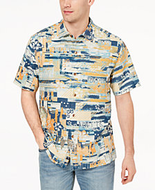 Tommy Bahama Men's Destination New York Graphic-Print Silk Shirt