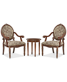 Rosalyn 3-Piece Chair and Table Set, Quick Ship