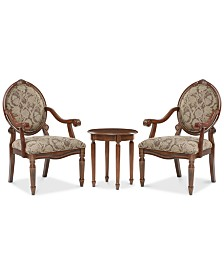 Boden 3-Piece Chair and Table Set, Quick Ship