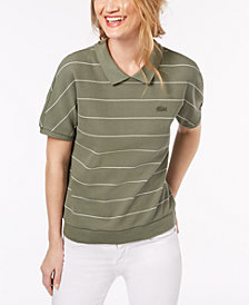 Lacoste Striped Cotton Polo Shirt