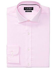 Lauren Ralph Lauren Men's Slim-Fit Non-Iron Stretch Pinpoint Dress Shirt