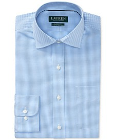 Men's Classic/Regular Fit Non-Iron Stretch Gingham Dress Shirt