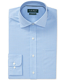 Lauren Ralph Lauren Men's Classic/Regular Fit Non-Iron Stretch Gingham Dress Shirt