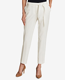 Tommy Hilfiger Twill Self-Tie Ankle Pants