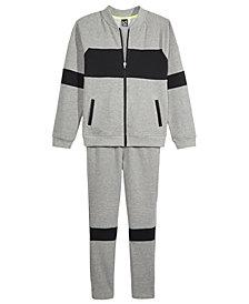 Ideology Bomber Sweatshirt Jacket & Pants, Big Boys, Created for Macy's