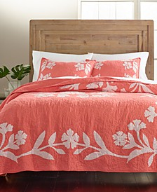 Hibiscus Medallion Cotton Quilt and Sham Collection