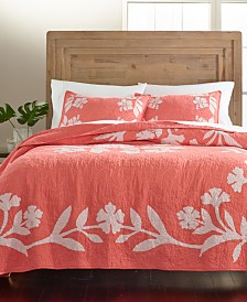 Martha Stewart Collection Hibiscus Medallion Standard Sham, Created for Macy's
