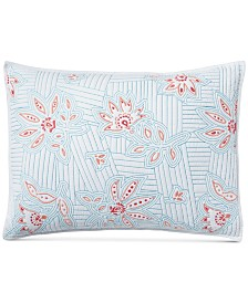 CLOSEOUT! Martha Stewart Collection Stitchcraft Cotton Standard Sham, Created for Macy's