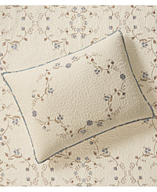 Martha Stewart Collection Westminster Vines Cotton King Sham, Created for Macy's